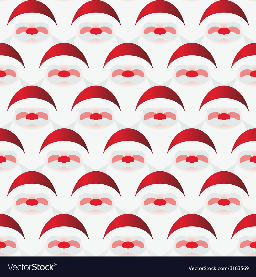 Pattern of santa claus vector | Price: 1 Credit (USD $1)