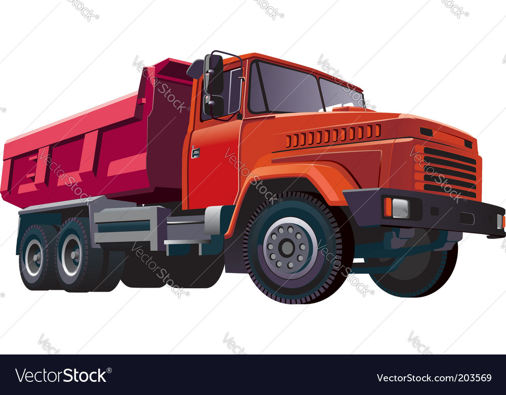Red dumper vector | Price: 3 Credit (USD $3)