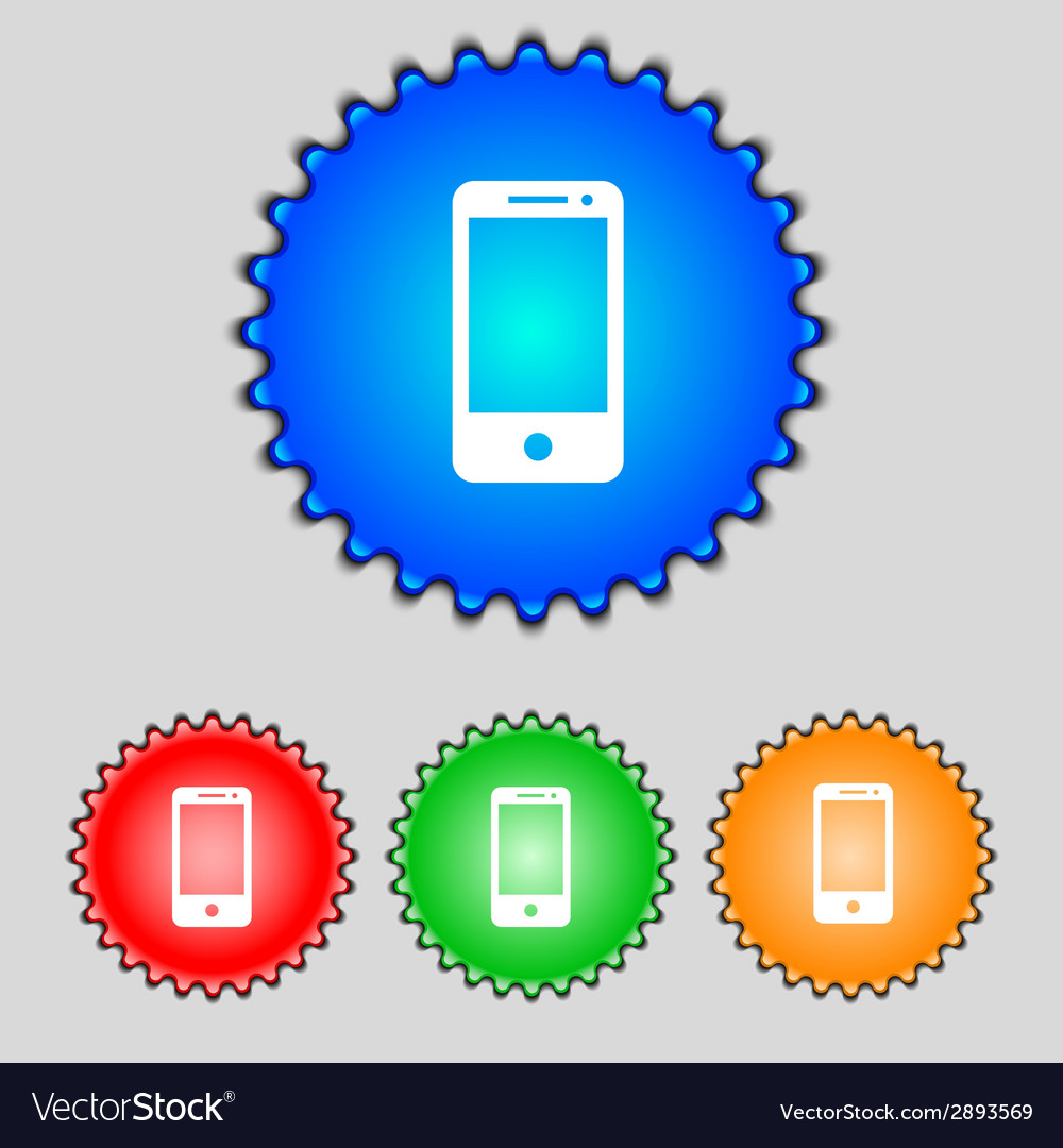 Smartphone sign icon support symbol call center vector | Price: 1 Credit (USD $1)