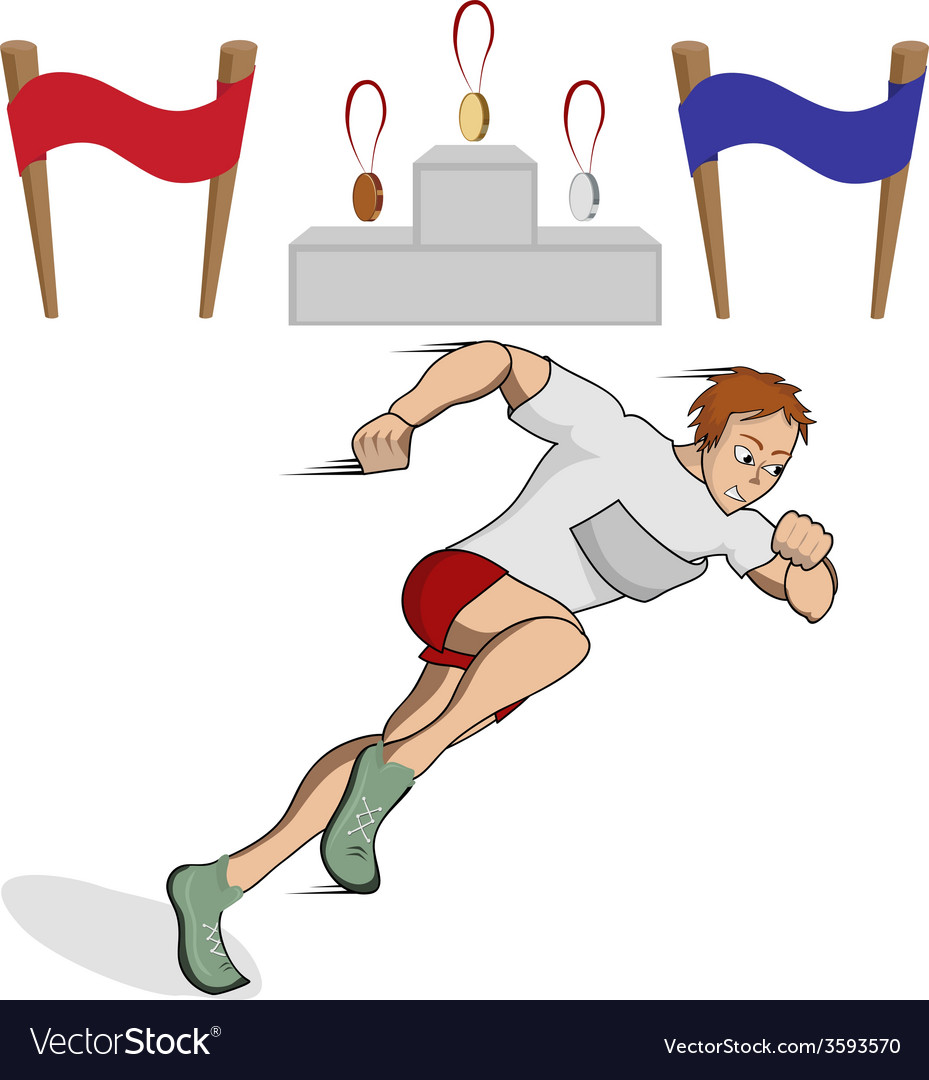 Athlete runner vector | Price: 1 Credit (USD $1)