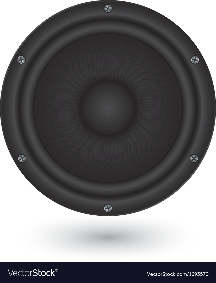 Audio speaker app icon vector | Price: 1 Credit (USD $1)
