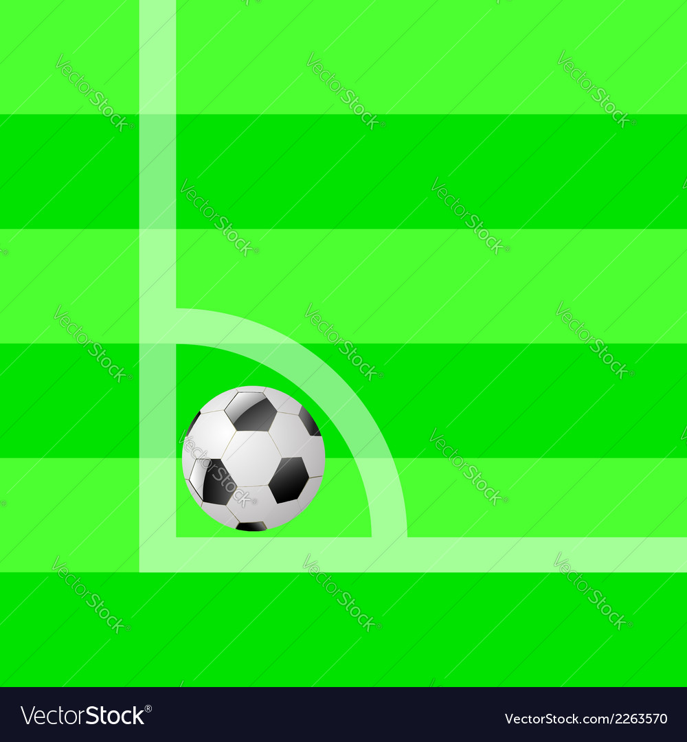 Ball on the field vector | Price: 1 Credit (USD $1)