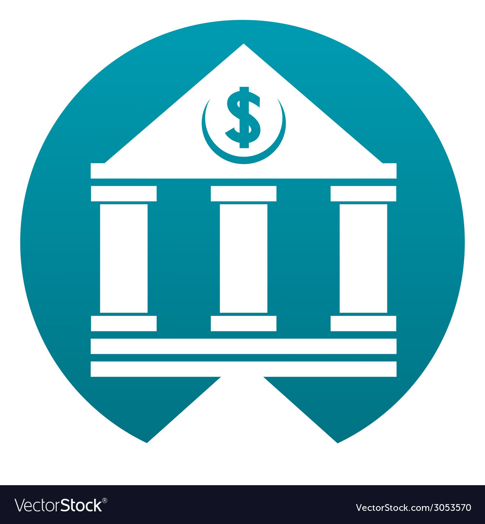 Bank building sign vector | Price: 1 Credit (USD $1)