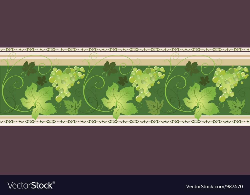 Borders with grapes vector | Price: 1 Credit (USD $1)
