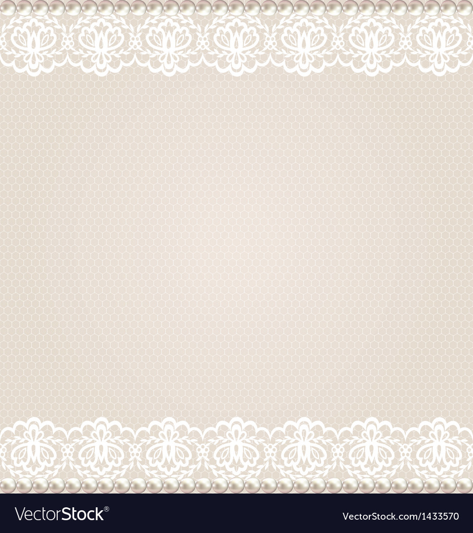 Card with lace floral border vector | Price: 1 Credit (USD $1)