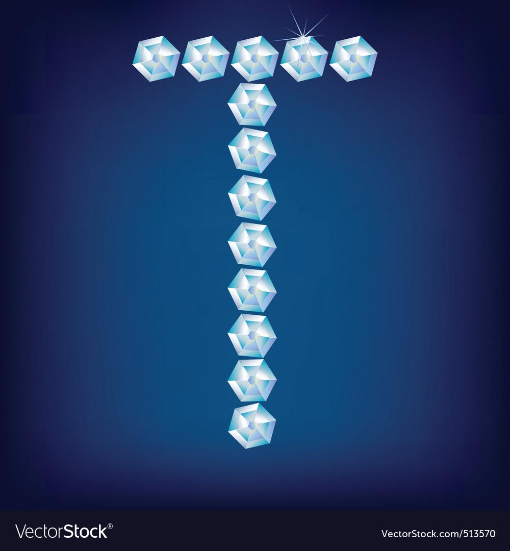 diamond alphabet lette t vector | Price: 1 Credit (USD $1)