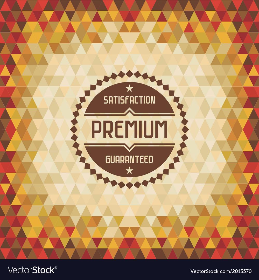 Geometric vintage background vector | Price: 1 Credit (USD $1)