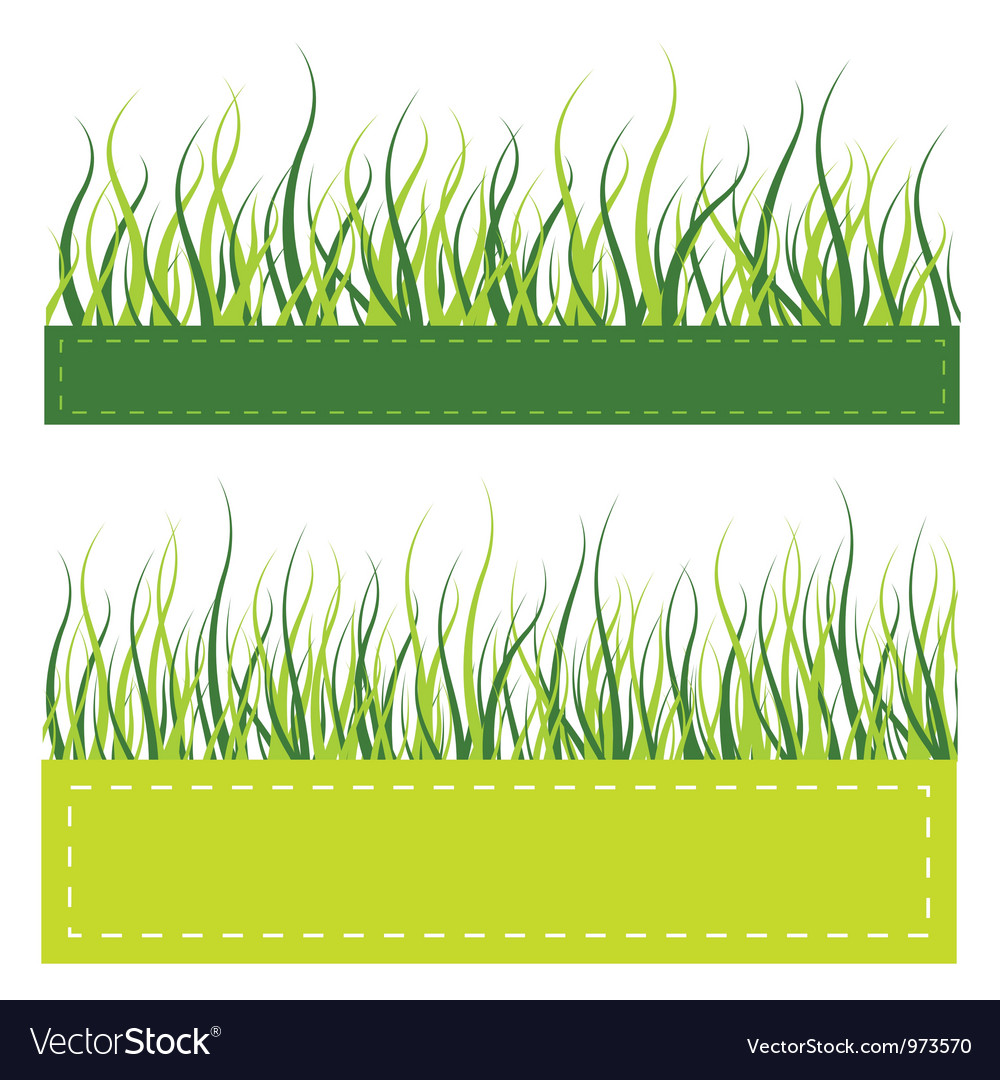 Green grass card vector | Price: 1 Credit (USD $1)