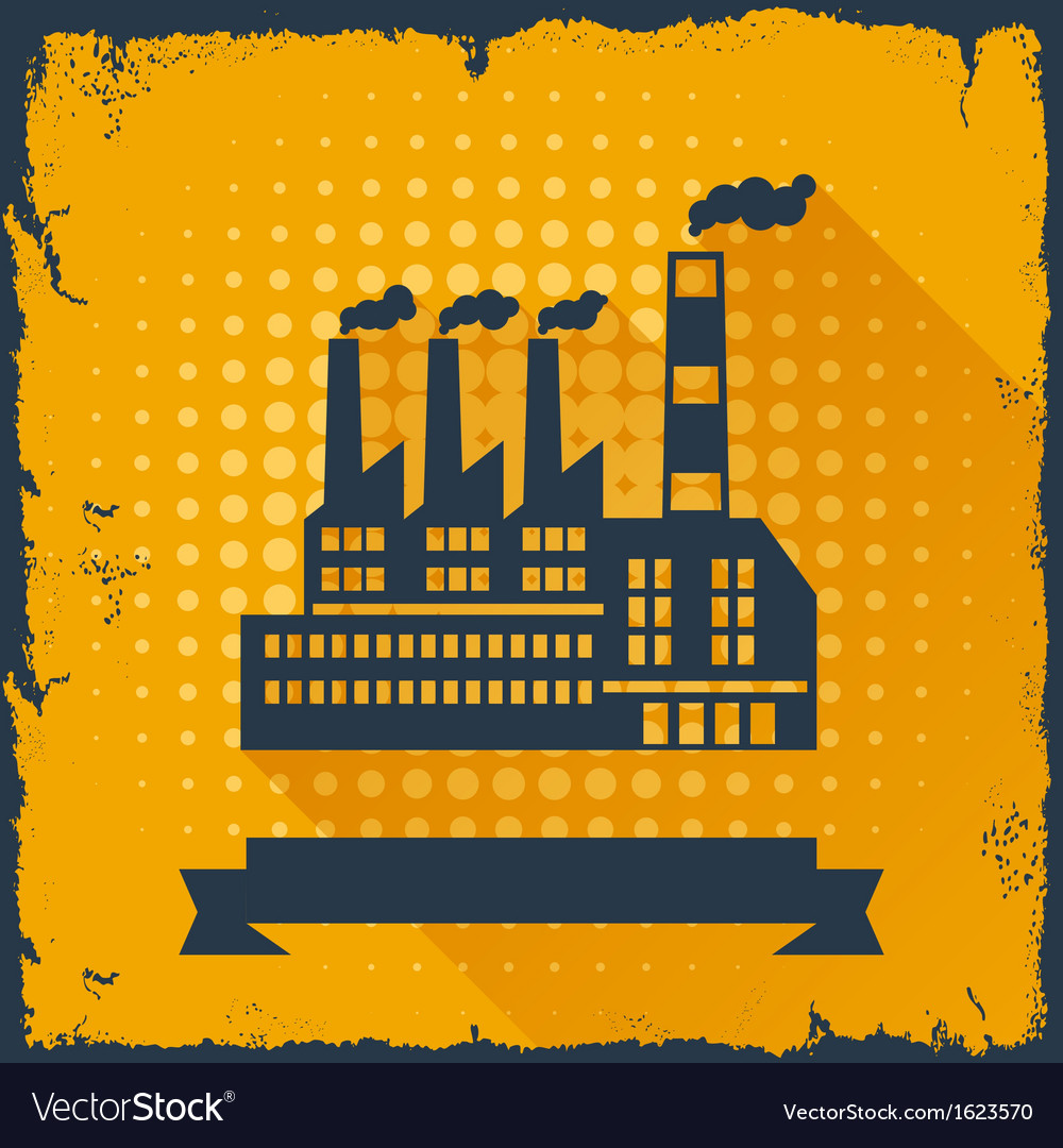 Industrial factory building background vector | Price: 1 Credit (USD $1)