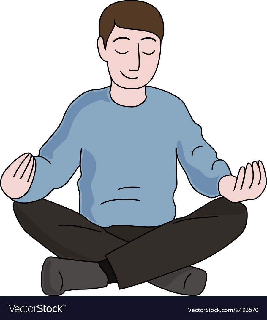 Meditation man vector | Price: 1 Credit (USD $1)