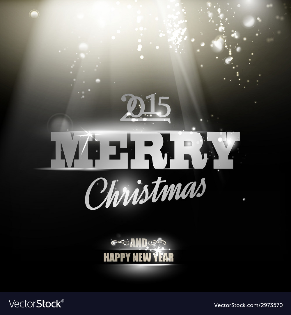 Merry christmas and happy new year 2015 card vector | Price: 1 Credit (USD $1)