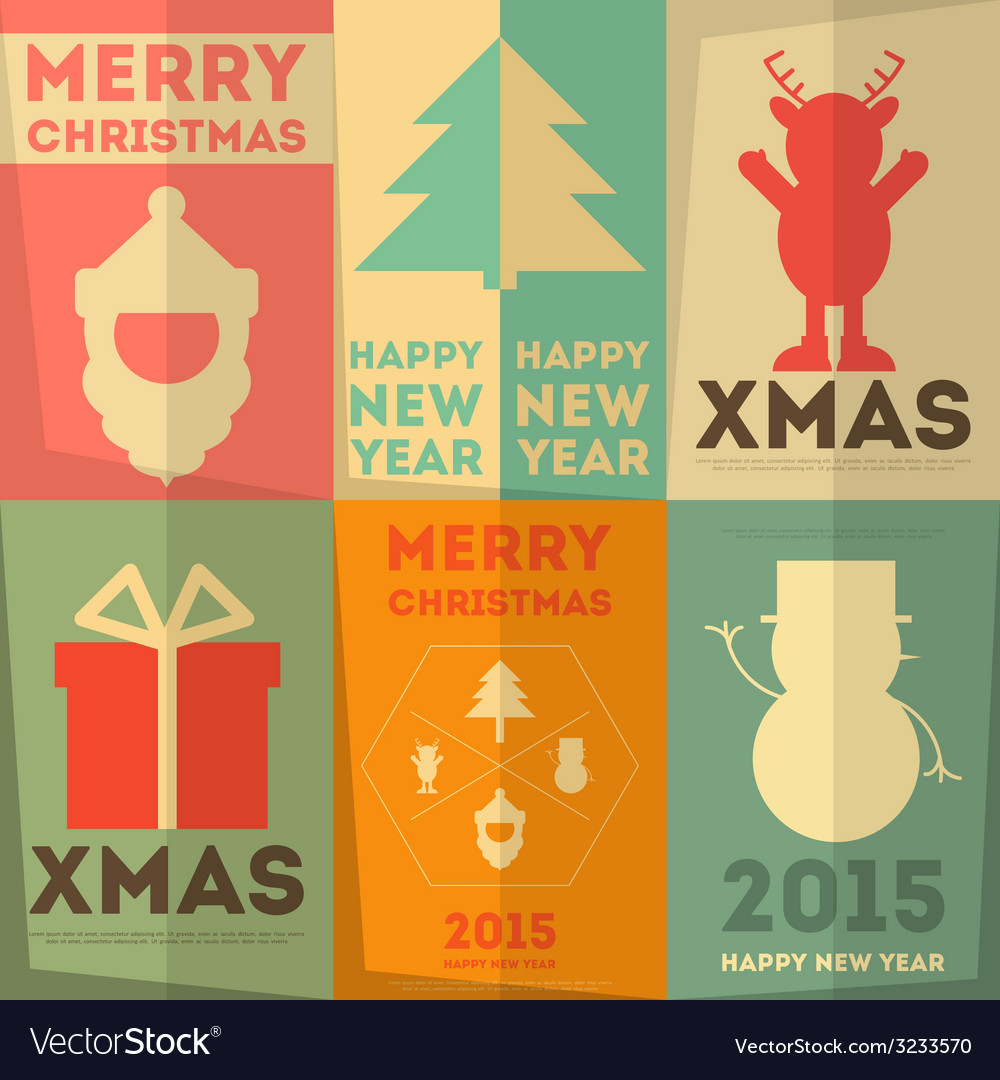 Merry christmas greeting poster vector | Price: 1 Credit (USD $1)