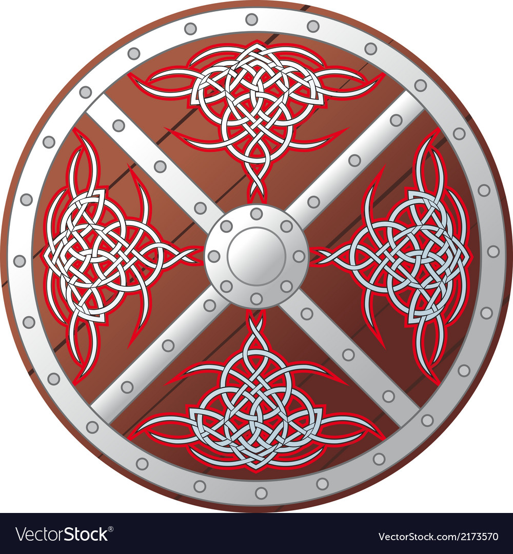 Ornate celtic shield vector | Price: 1 Credit (USD $1)