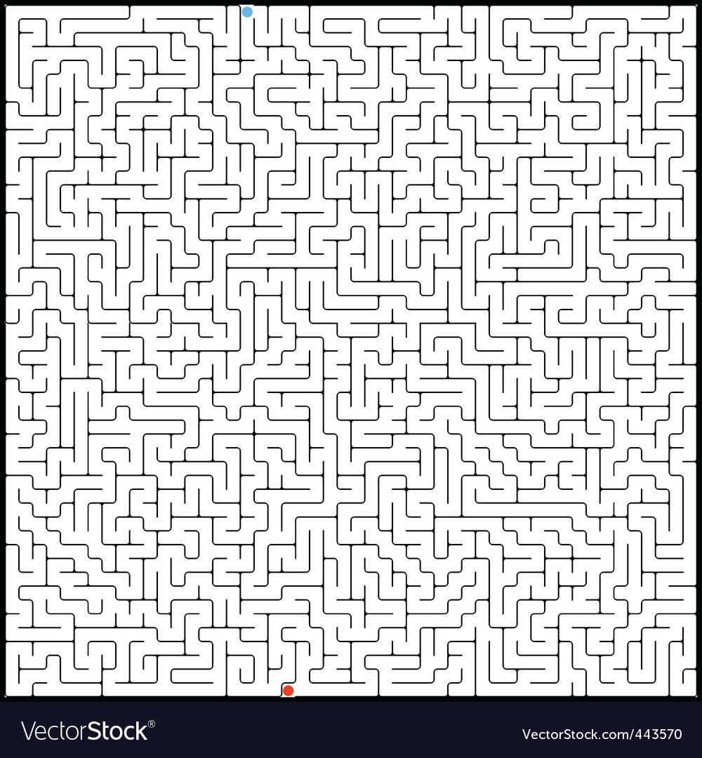 Perfect maze vector   Price: 1 Credit (USD $1)