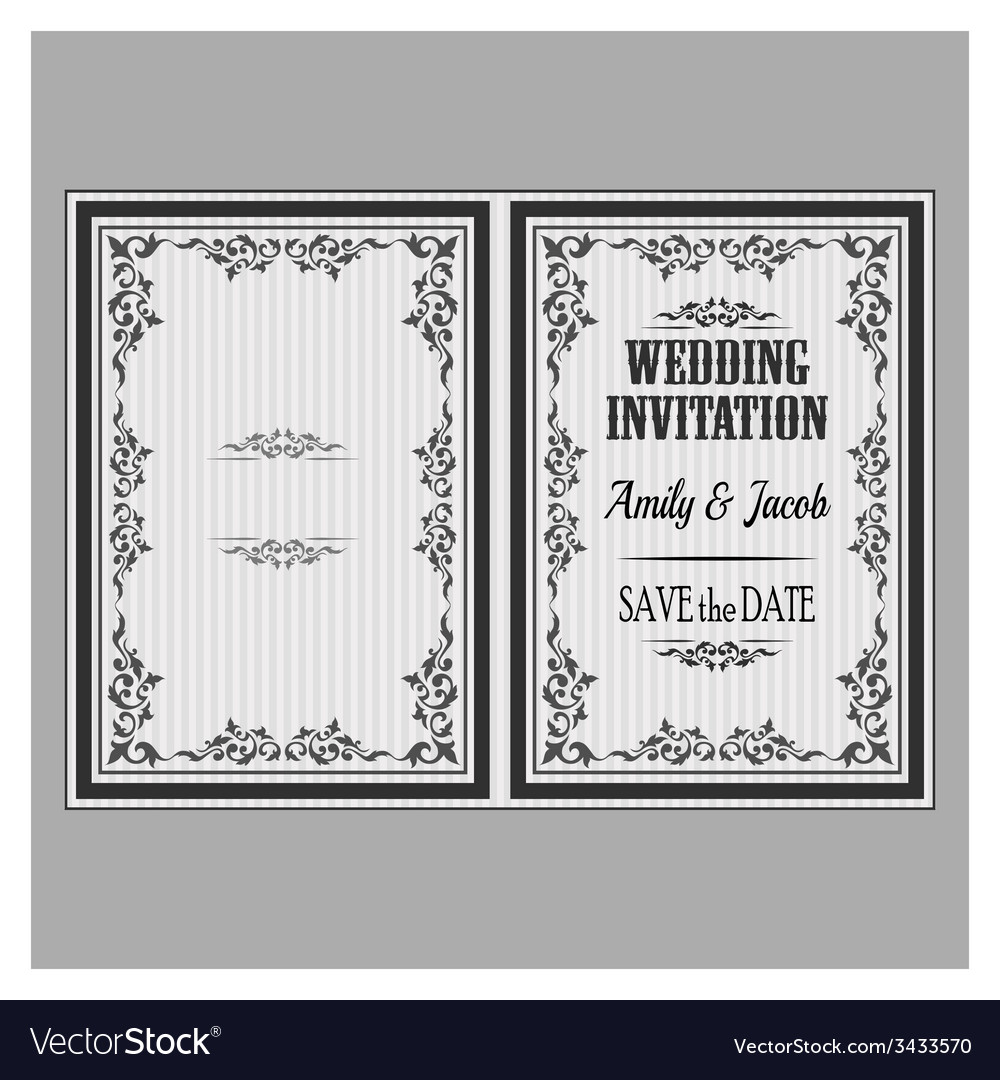 Wedding invitation v vector | Price: 1 Credit (USD $1)