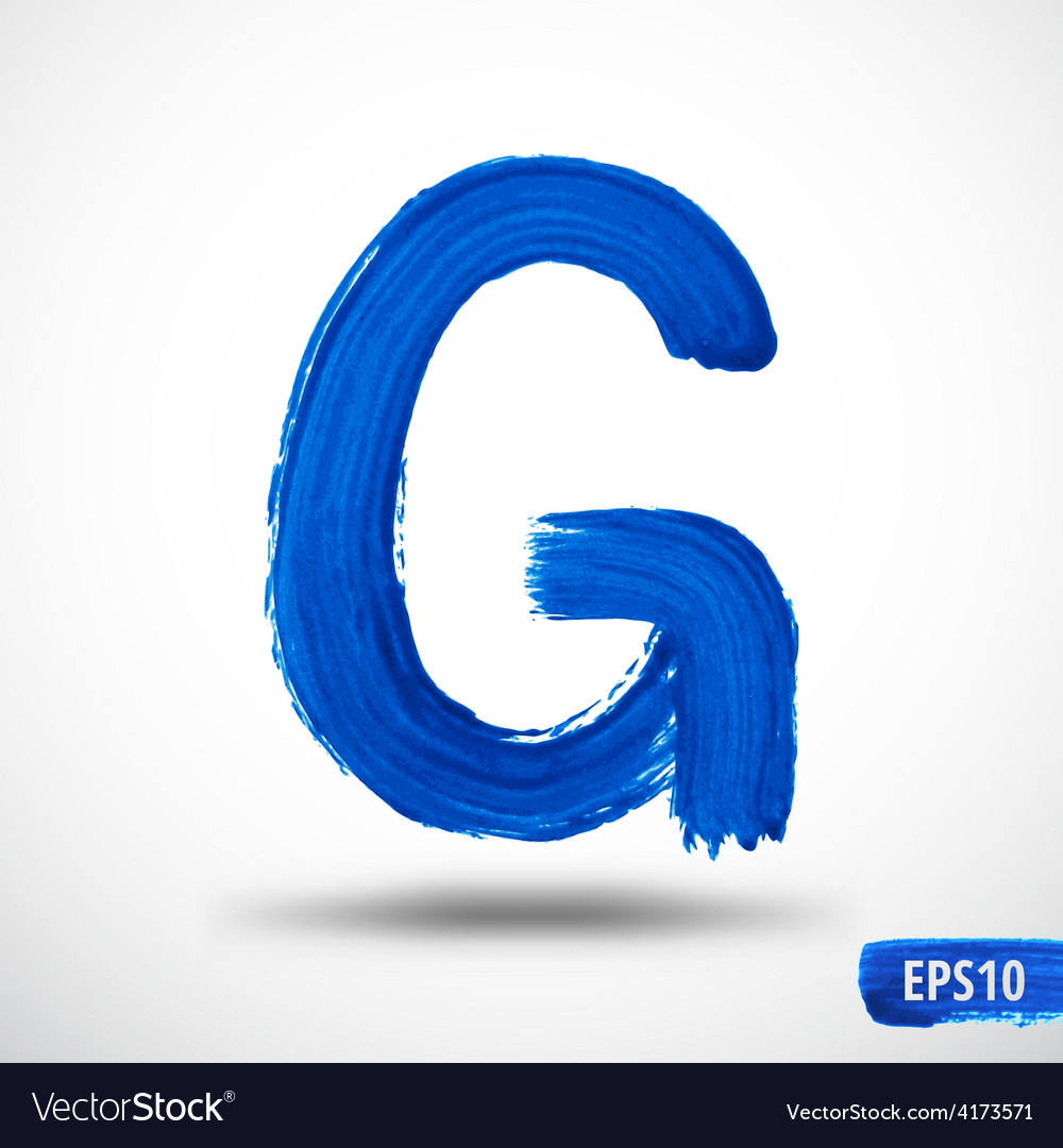 Alphabet letter g watercolor alphabet vector | Price: 1 Credit (USD $1)