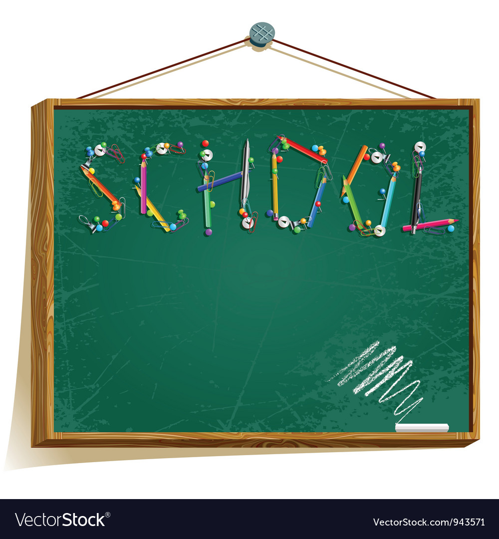Background with school board vector | Price: 1 Credit (USD $1)