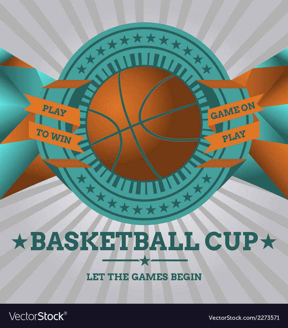 Basketball emblem with geometric background vector | Price: 1 Credit (USD $1)
