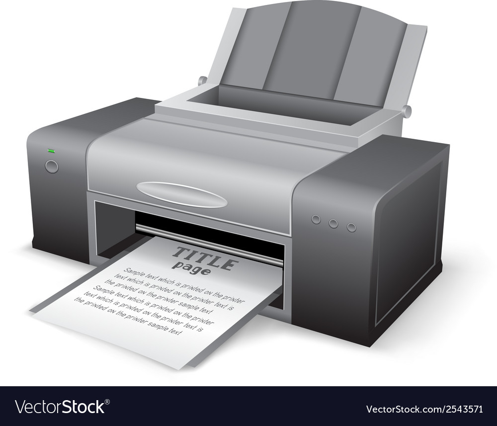 Black printer vector | Price: 1 Credit (USD $1)