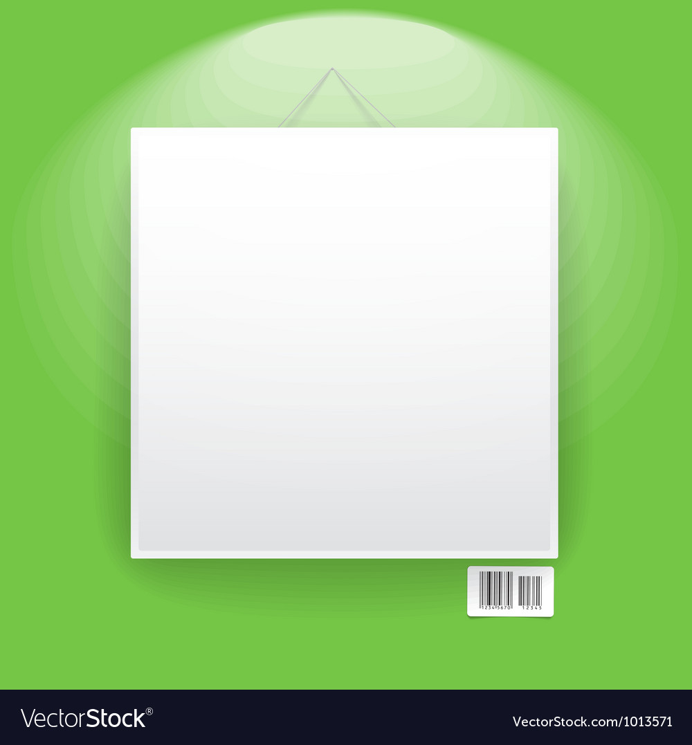 Blank frame on the wall vector   Price: 1 Credit (USD $1)
