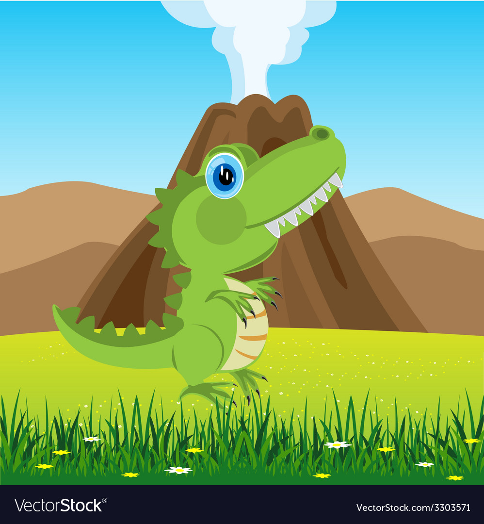 Dinosaur on glade vector | Price: 1 Credit (USD $1)