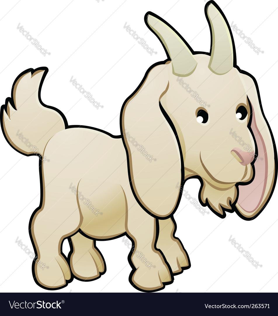 Goat farm animal vector | Price: 1 Credit (USD $1)