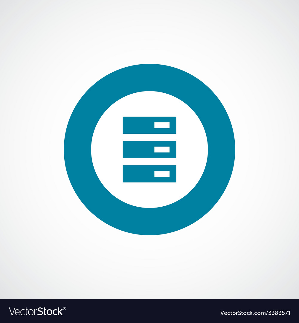 Server bold blue border circle icon vector | Price: 1 Credit (USD $1)