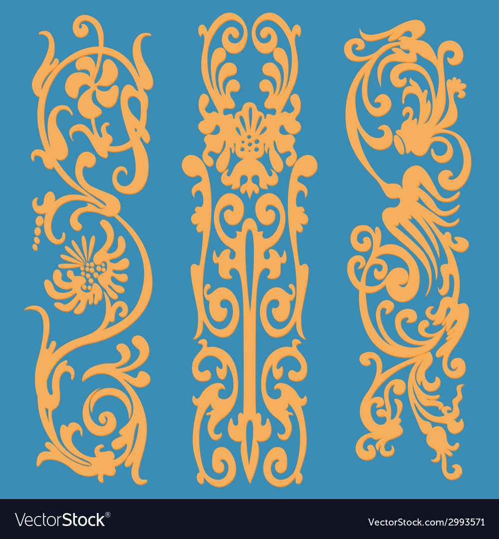 Silhouette pattern orange vector | Price: 1 Credit (USD $1)