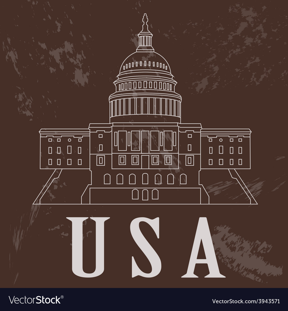 Usa landmarks retro styled image vector | Price: 1 Credit (USD $1)