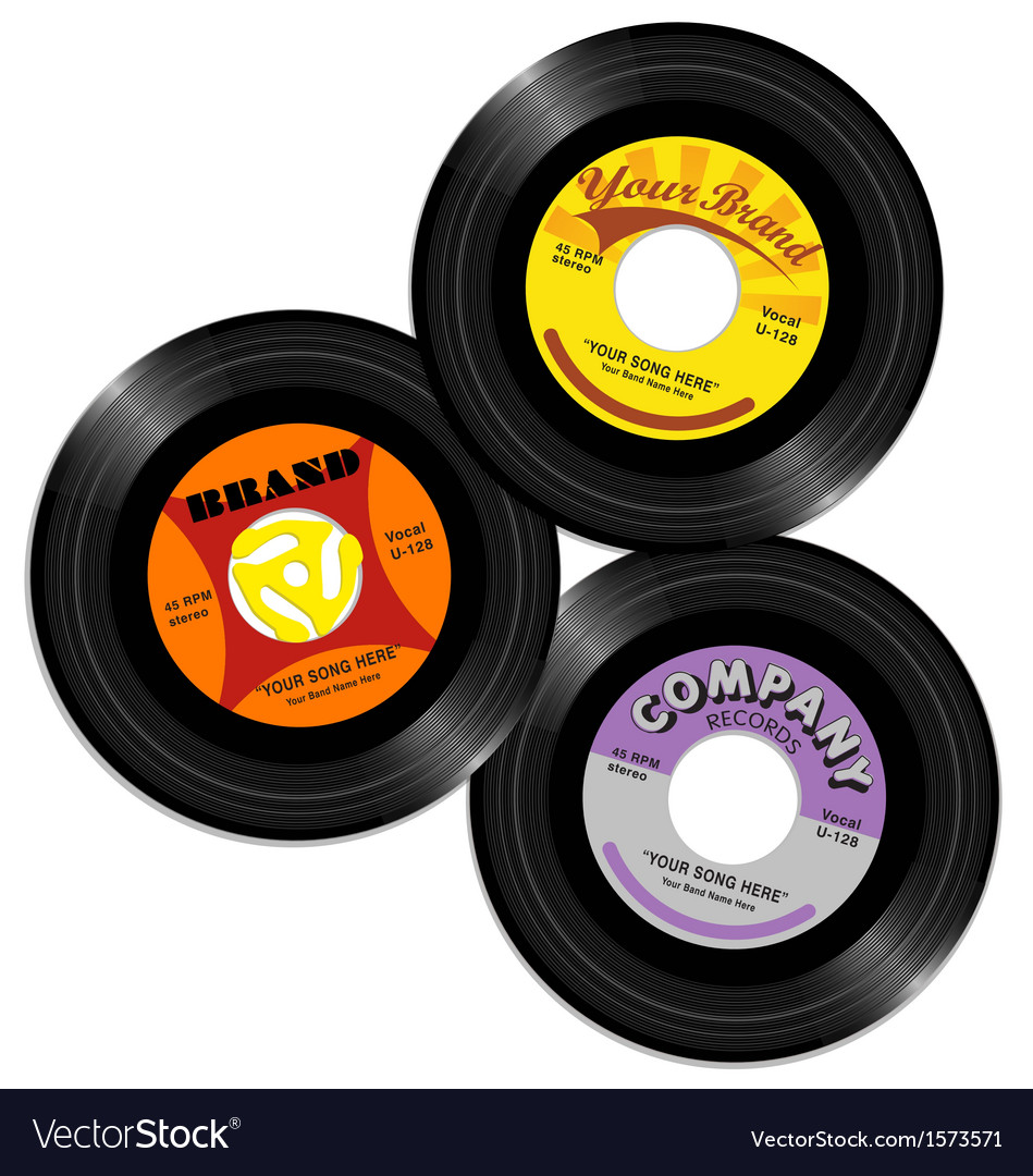 Vintage 45 record label designs 2 vector | Price: 1 Credit (USD $1)
