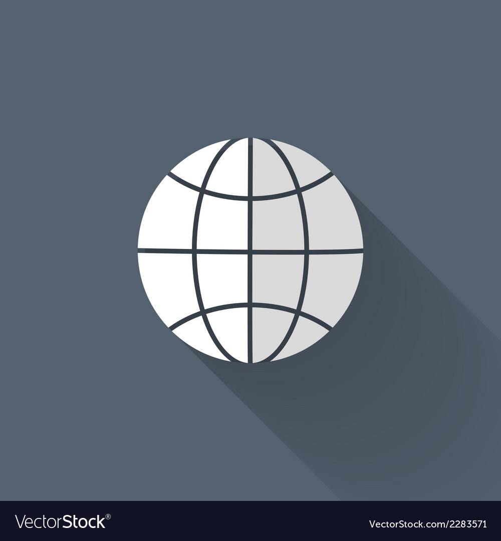 White and grey globe icon over blue vector   Price: 1 Credit (USD $1)