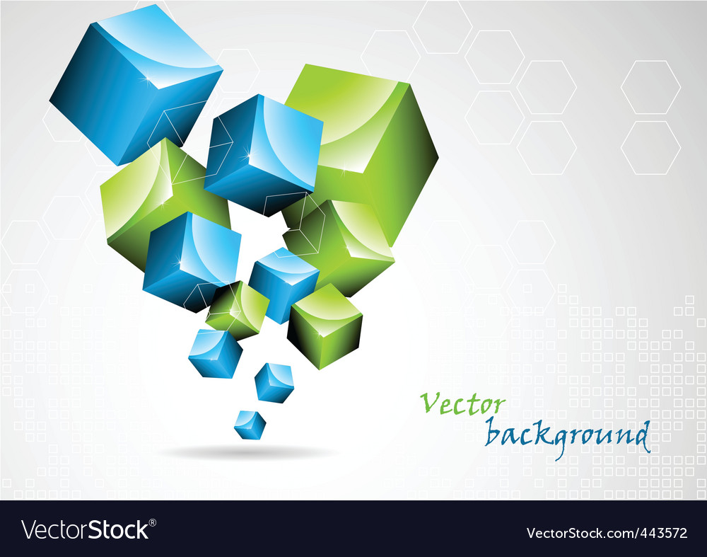 Abstract background with 3d element vector | Price: 1 Credit (USD $1)