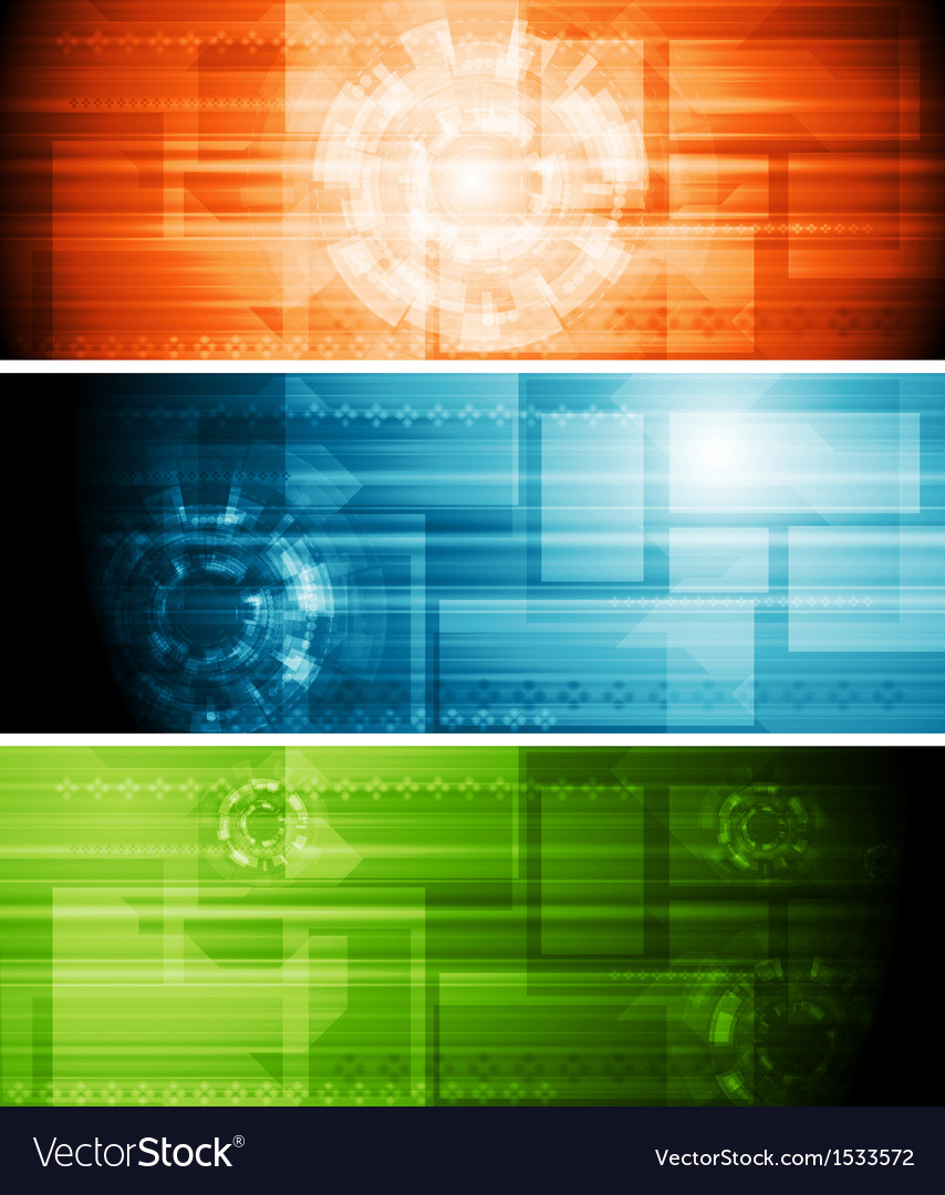Abstract hi-tech banners vector | Price: 1 Credit (USD $1)