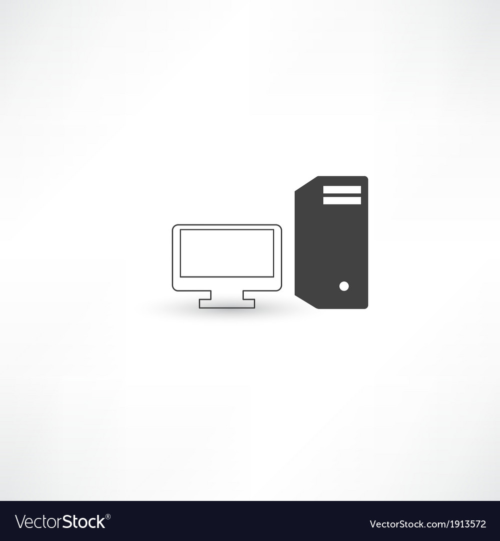 Black and white computer vector | Price: 1 Credit (USD $1)