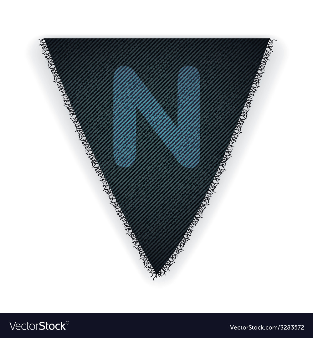 Bunting flag letter n vector | Price: 1 Credit (USD $1)