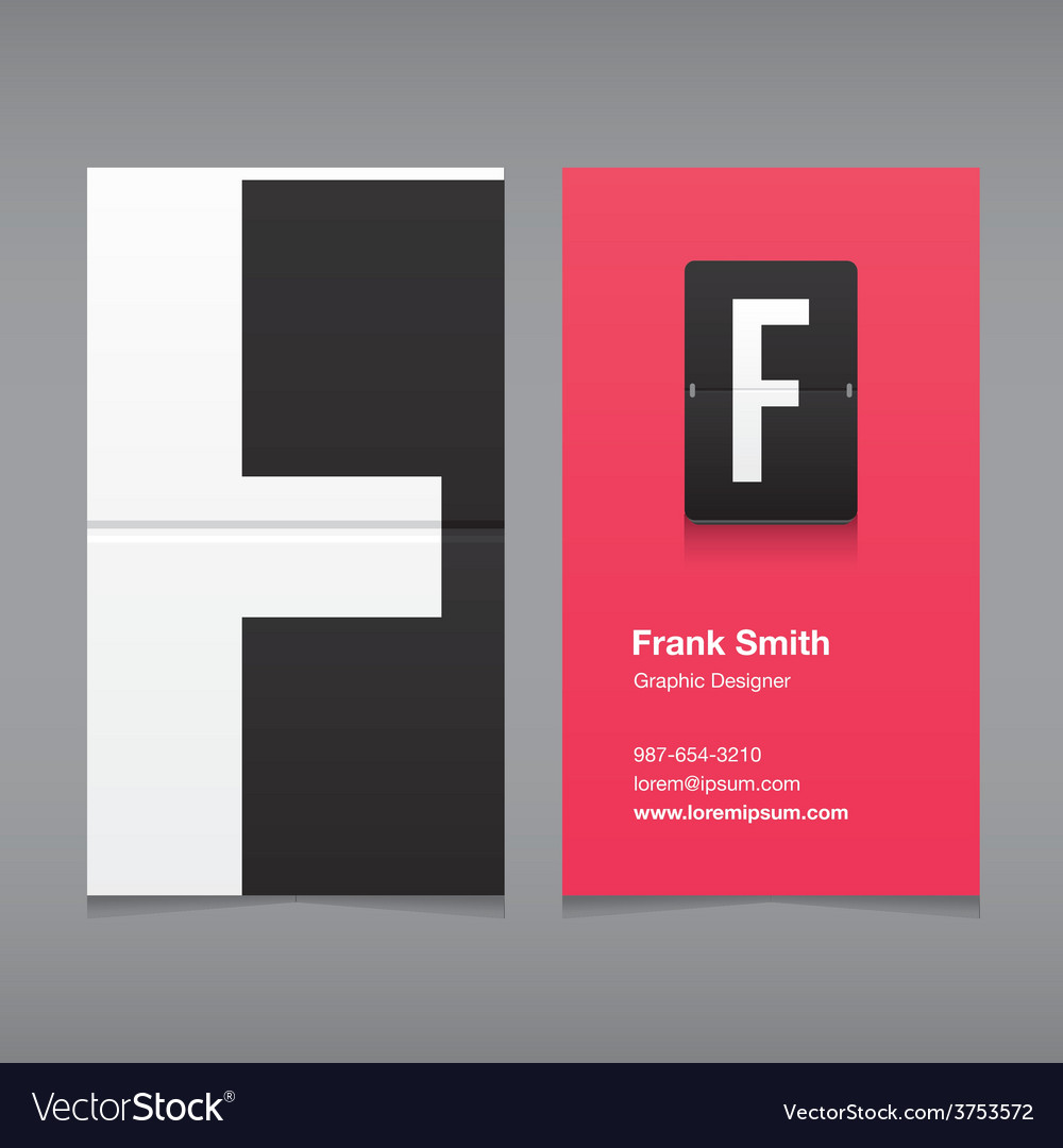 Business card letter f vector | Price: 1 Credit (USD $1)