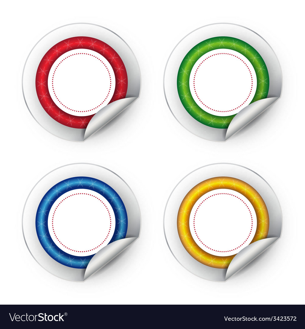 Colorful stickers on white background vector | Price: 1 Credit (USD $1)