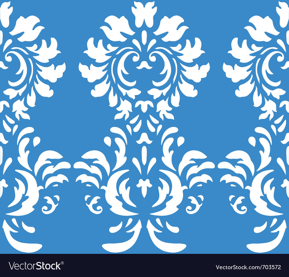 Damask wallpaper design vector | Price: 1 Credit (USD $1)