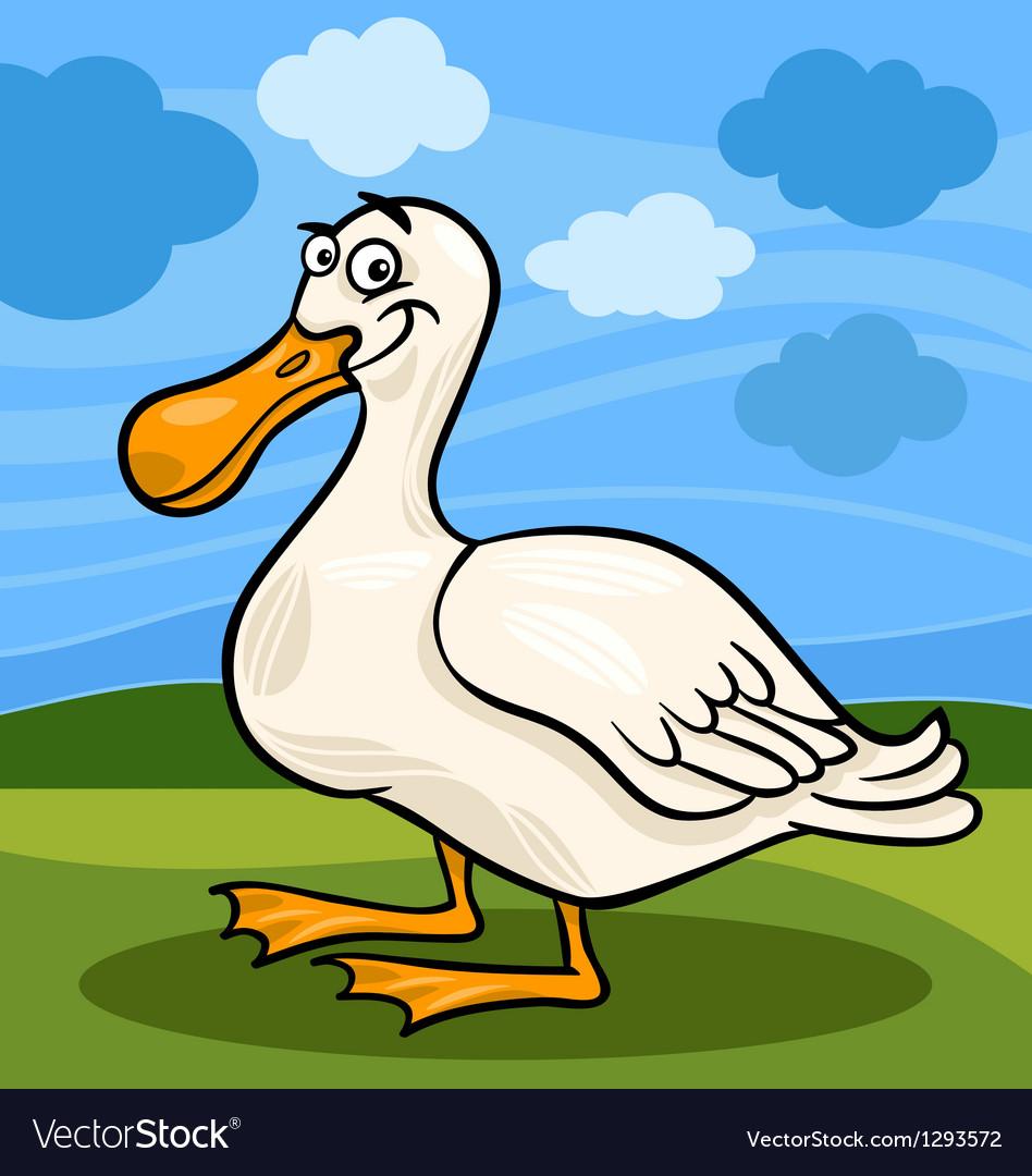 Duck bird farm animal cartoon vector   Price: 1 Credit (USD $1)