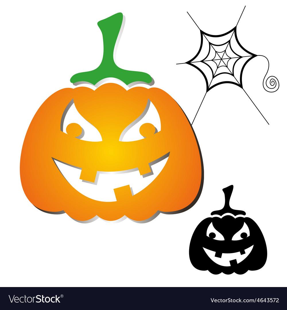 Haloween pumpkin vector | Price: 1 Credit (USD $1)