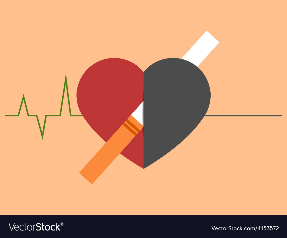 Heart disease and death caused with smoking vector | Price: 1 Credit (USD $1)