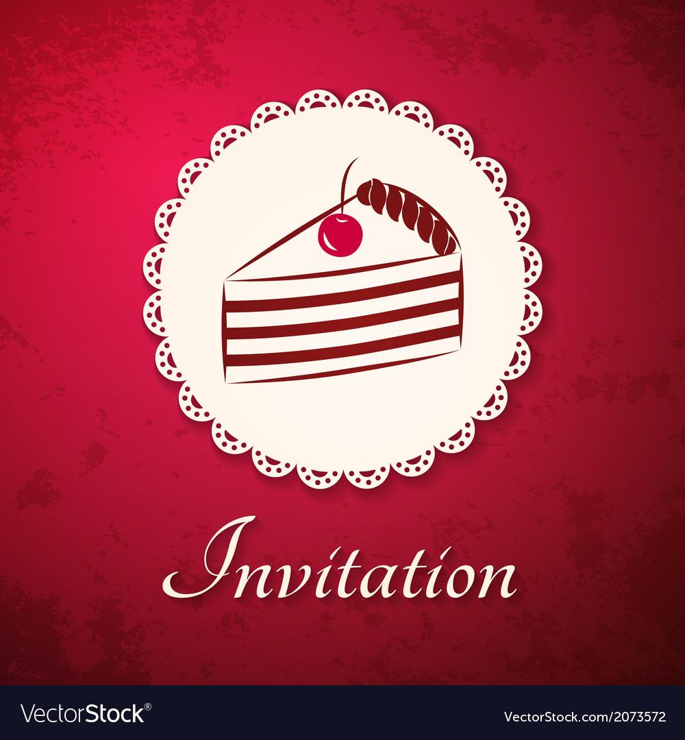 Invitation applique card background vector | Price: 1 Credit (USD $1)