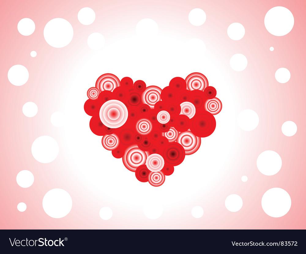 Romantic heart background vector | Price: 1 Credit (USD $1)