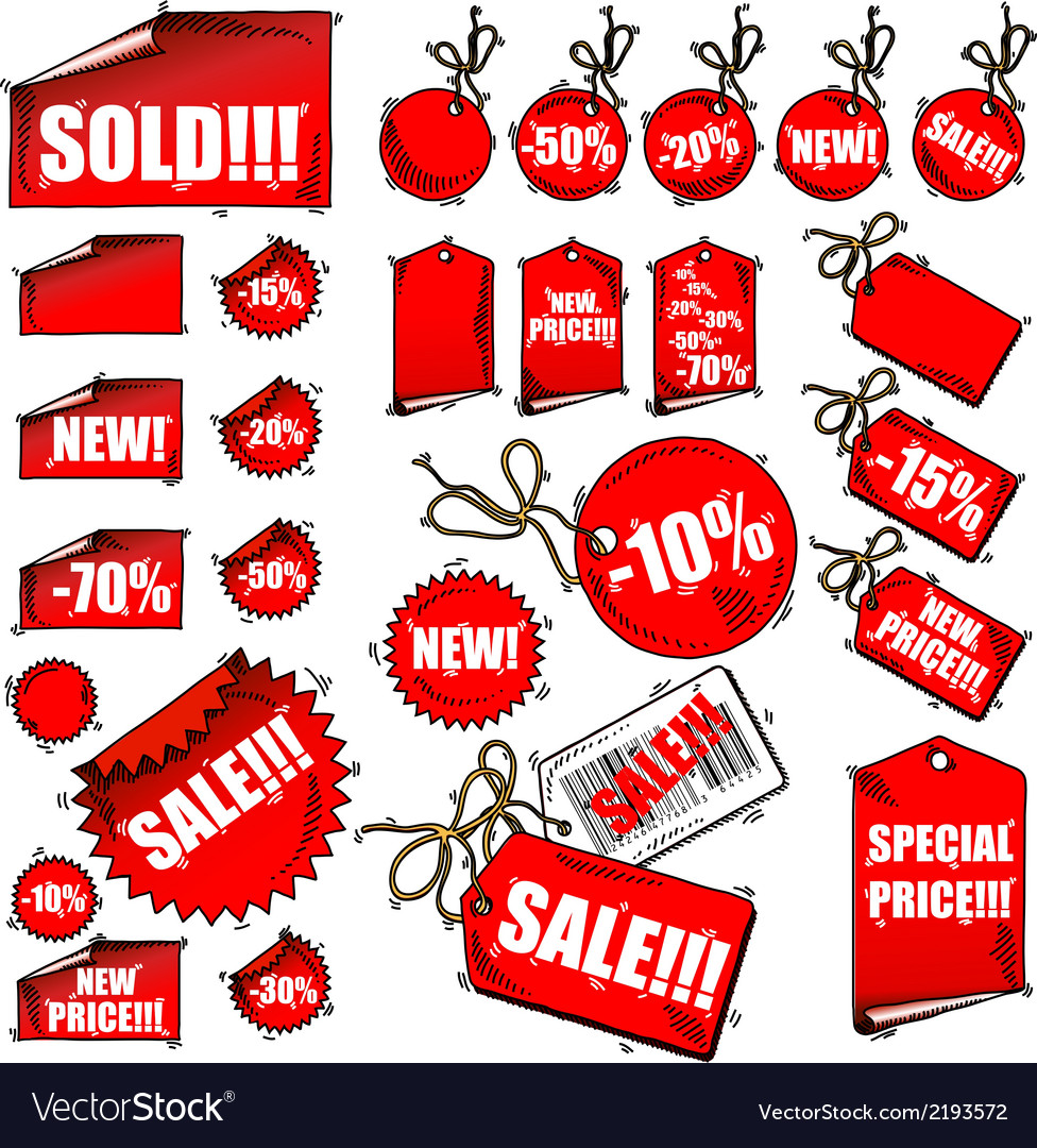 Set of tags vector | Price: 1 Credit (USD $1)