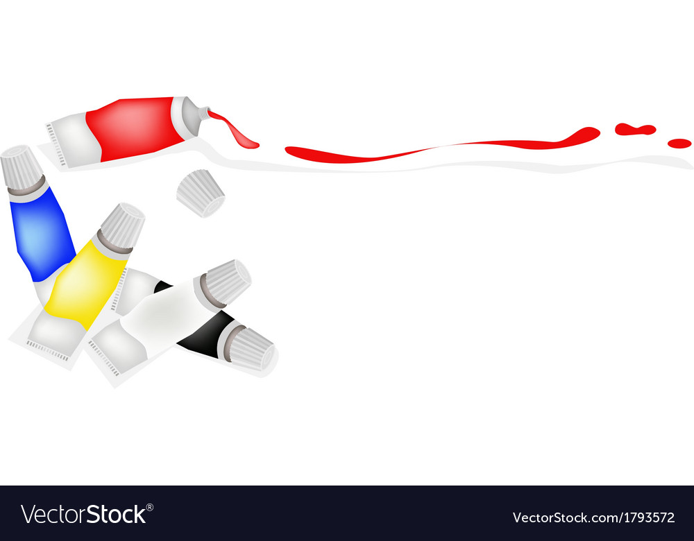 Tube of primary colors with white and black vector | Price: 1 Credit (USD $1)