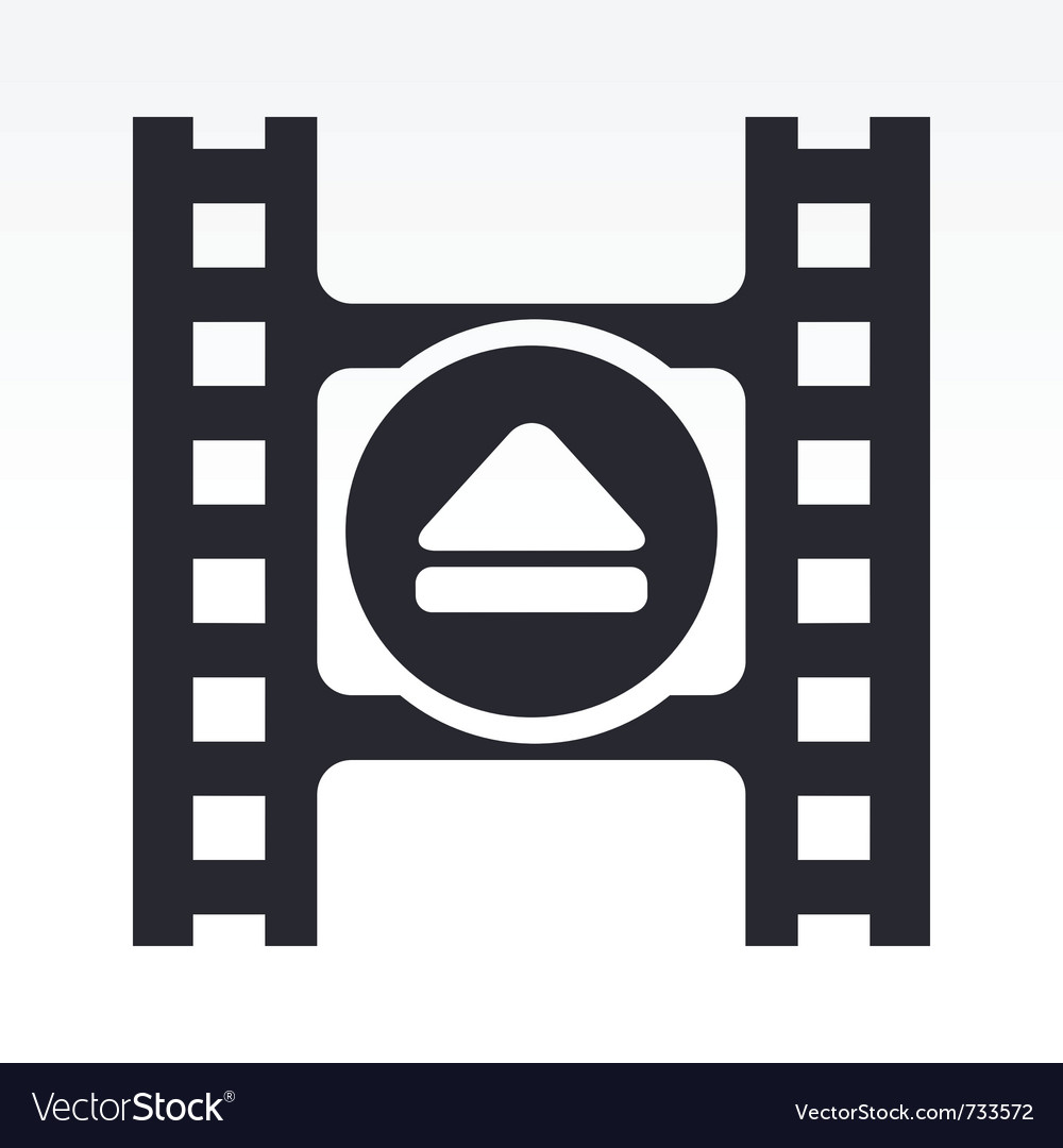 Video eject icon vector | Price: 1 Credit (USD $1)