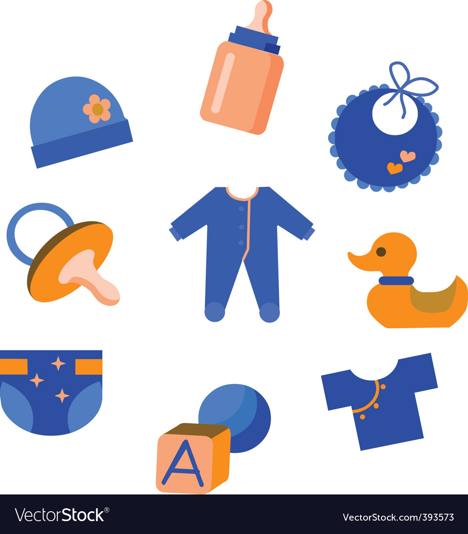 Baby stuff vector | Price: 1 Credit (USD $1)