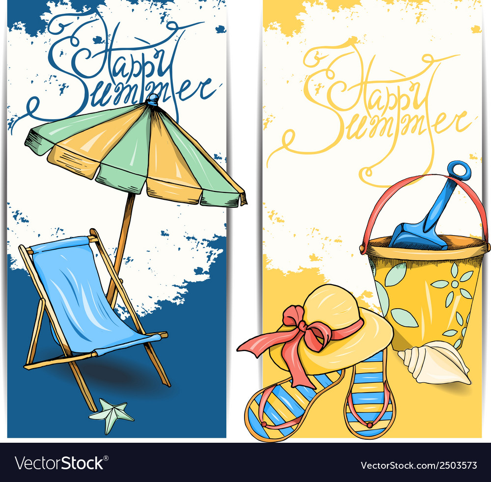 Beach card vector | Price: 1 Credit (USD $1)
