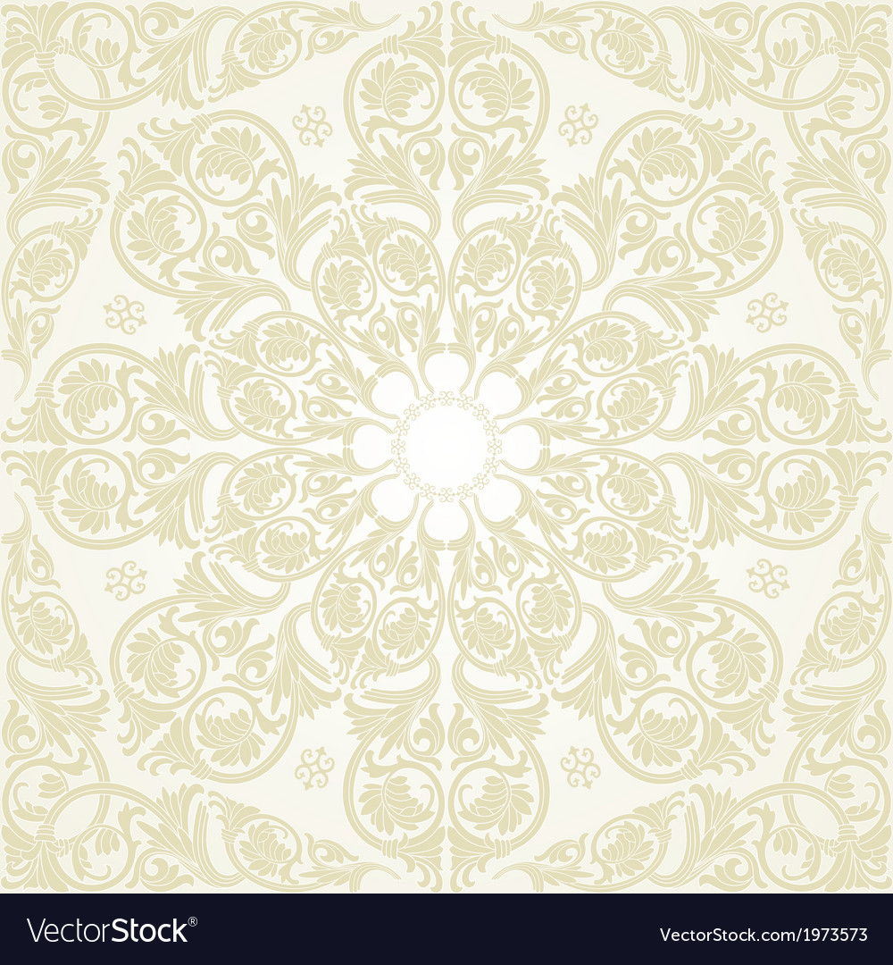 Damask seamless with baroque ornaments vector   Price: 1 Credit (USD $1)