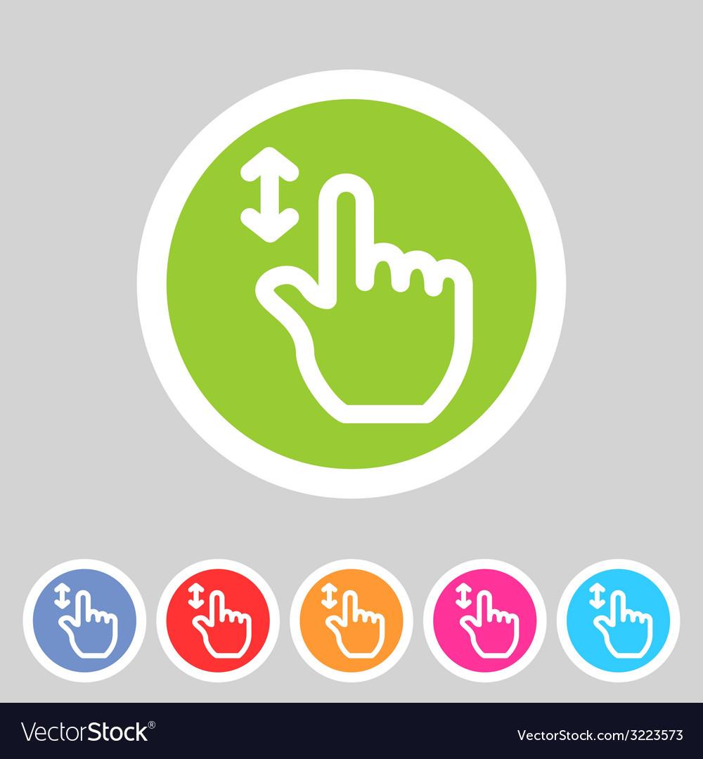Drag hand flat icon vector | Price: 1 Credit (USD $1)
